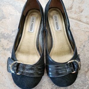 Steve Madden Leather Belt Flats sz 7